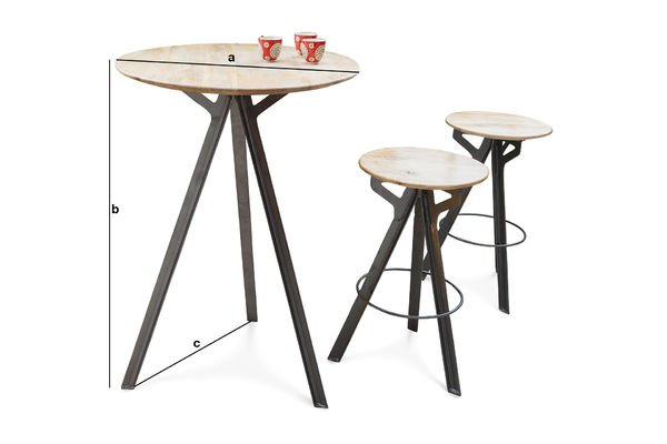 Product Dimensions Bar table Jetson