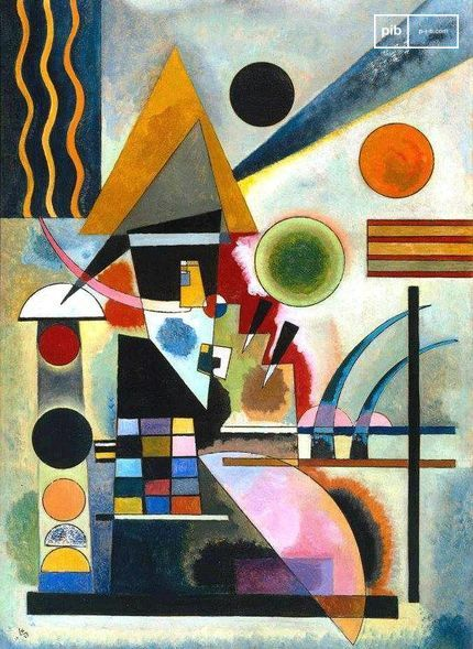 Bauhaus art - Swinging by Wassily Kandinsky, 1925