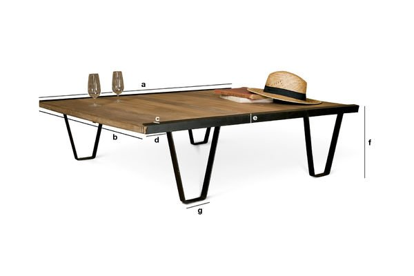 Product Dimensions Bay Teck coffee table