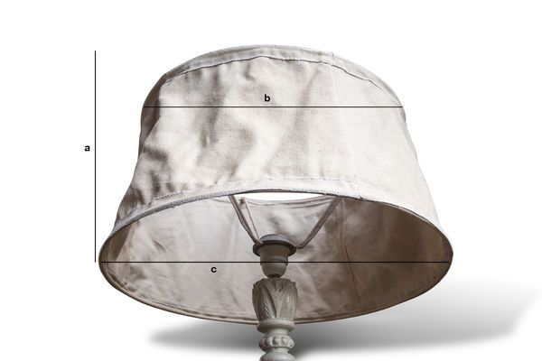 Product Dimensions Beige Lampshade Victoria