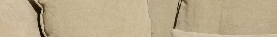 Material Details Beige Mélodie sofa