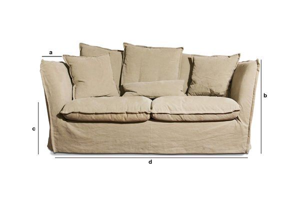 Product Dimensions Beige Mélodie sofa