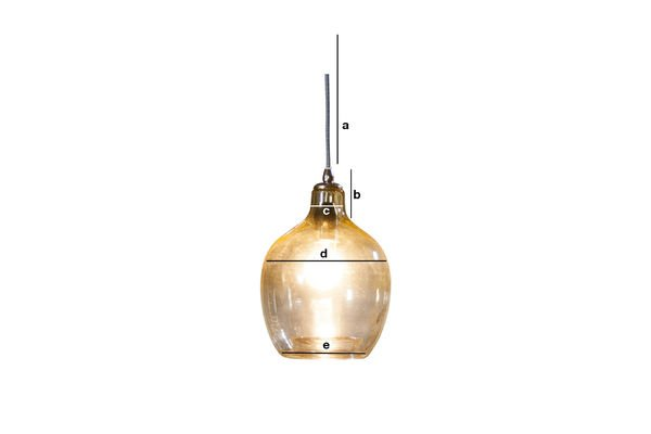 Product Dimensions Belvedere hanging lamp