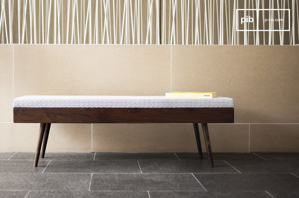 Opt for a simple and elegant bench that will amplify your subtle entrance area or bedroom ambience