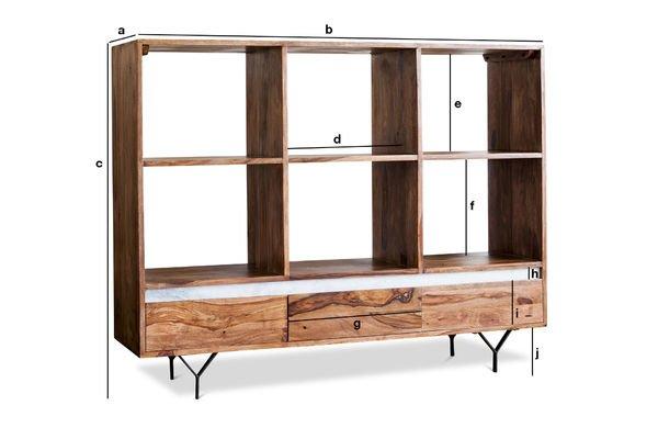 Product Dimensions Big bookcase Mabillon