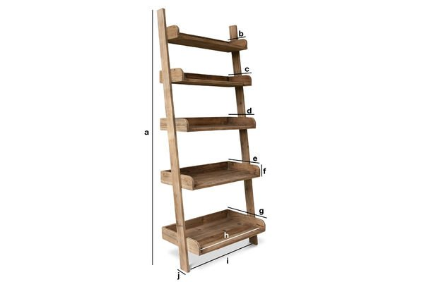 Product Dimensions Big ladder bookshelf