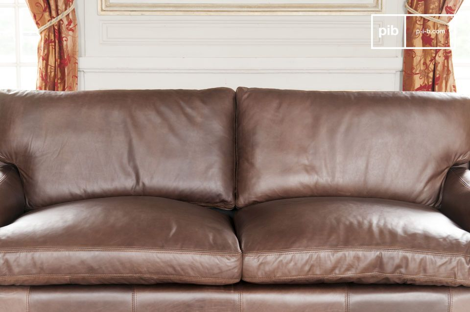 This leather sofa is the key element of a living room and is part of the long tradition of leather