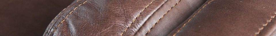 Material Details Big leather sofa Sanary