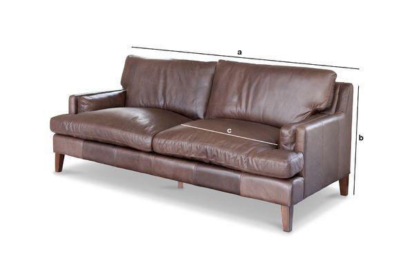 Product Dimensions Big leather sofa Sanary