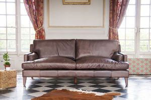Big leather sofa Sanary