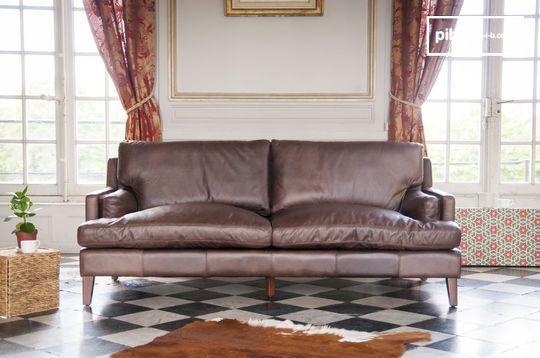 Big leather sofa Sanary
