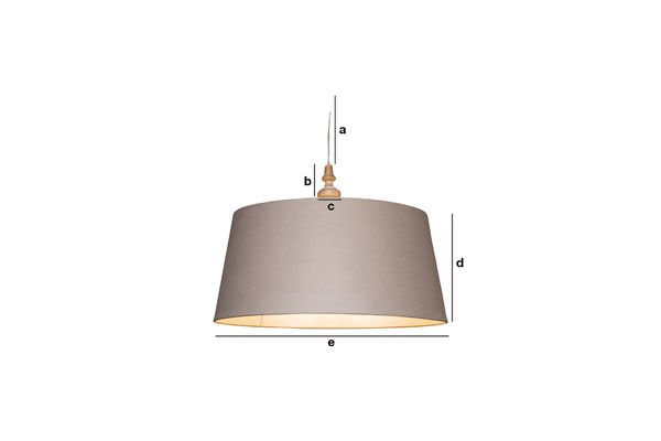 Product Dimensions Bilboquet suspension light