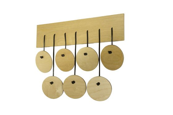 Billünd Scandinavian coat rack Clipped