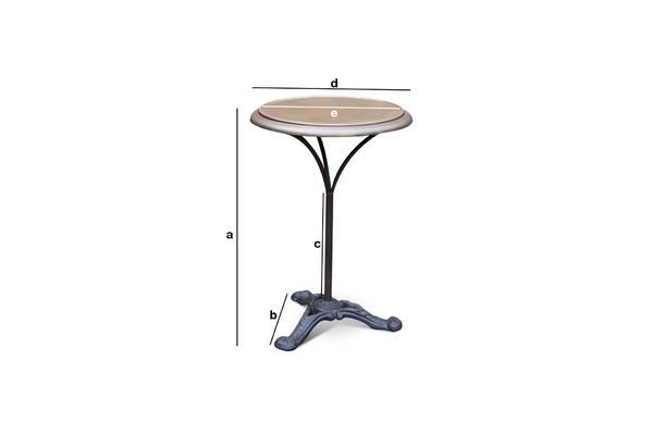Product Dimensions Bistro table Vaiana