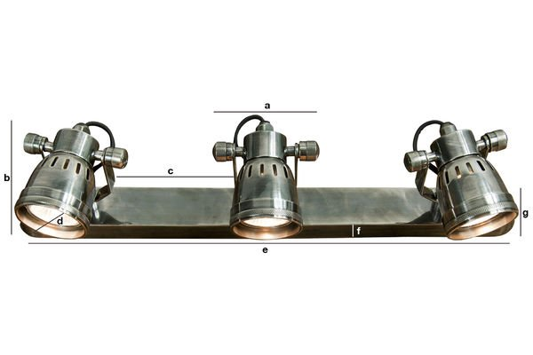 Product Dimensions Bistro triple-lamp wall light