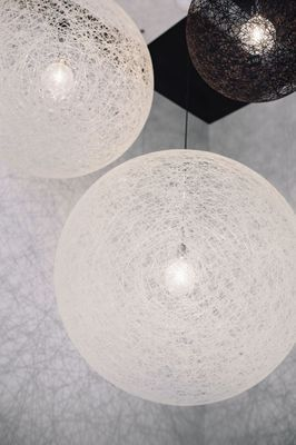 Black and white ceiling lamps