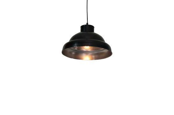 Black-bare metal ceiling light 31cm Clipped