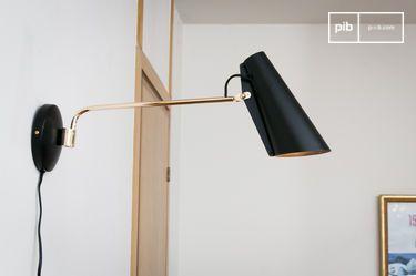 Black Birdy wall lamp