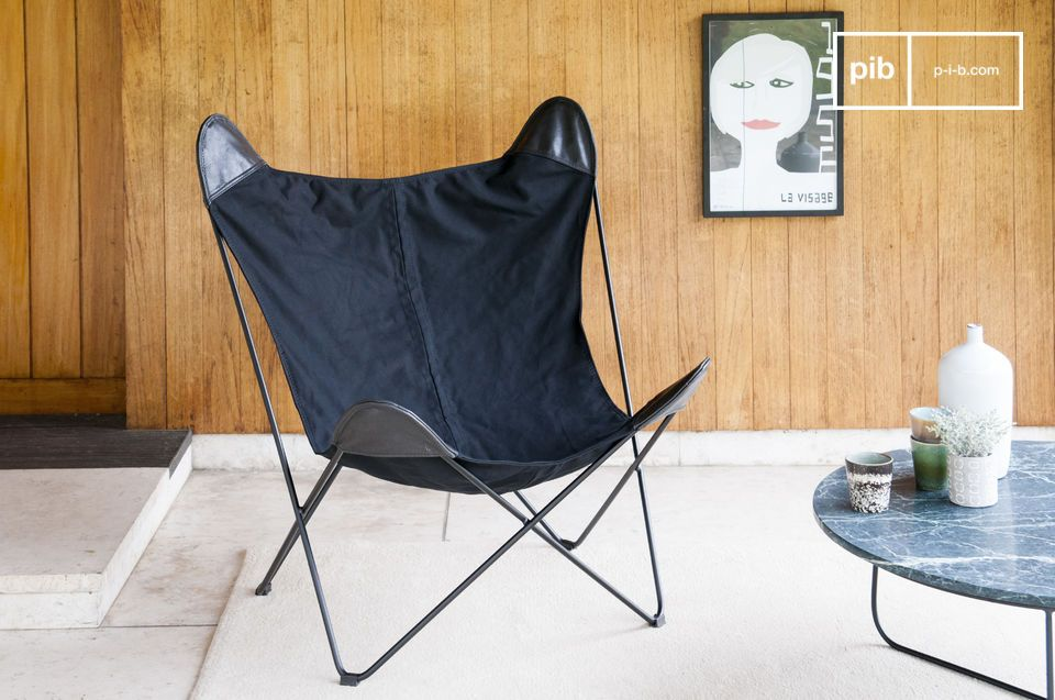 Black Colina Canvas Armchair