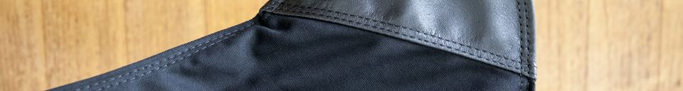 Material Details Black Colina Canvas Armchair