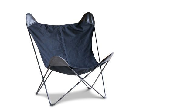 Black Colina Canvas Armchair Clipped