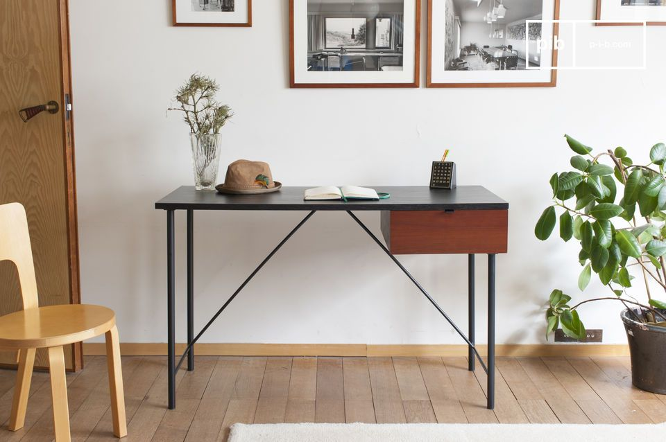 Nice desk with fine and elegant lines of Japanese influence.