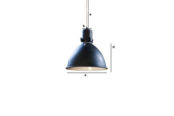 Product Dimensions Black Edition factory pendant light