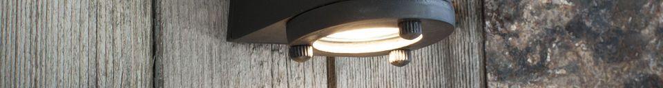 Material Details Black exterior wall lamp Aix