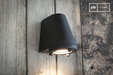 Black exterior wall lamp Aix