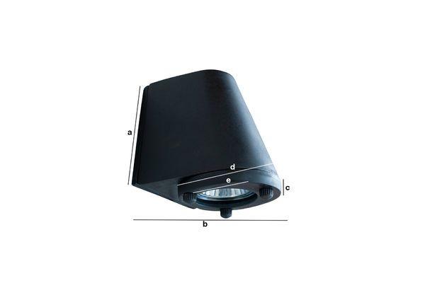 Product Dimensions Black exterior wall lamp Aix