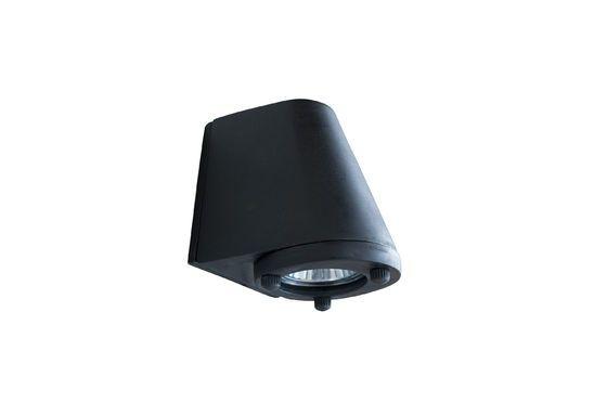 Black exterior wall lamp Aix Clipped