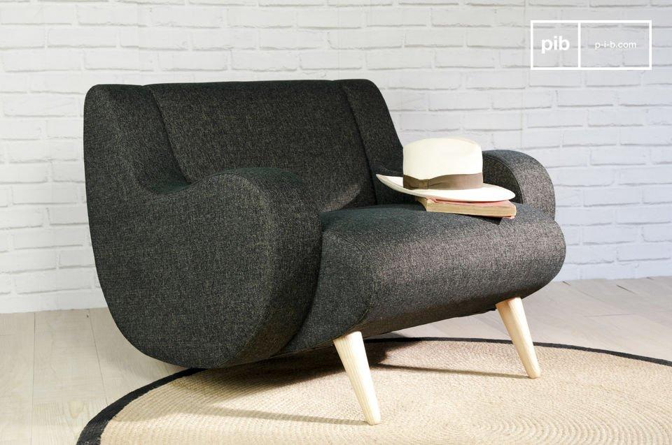 Black Geneva armchair - A circular armchair, vintage style ...