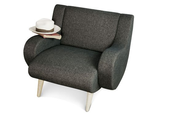 Black Geneva armchair Clipped