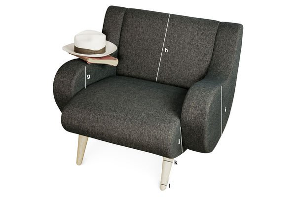Product Dimensions Black Geneva armchair