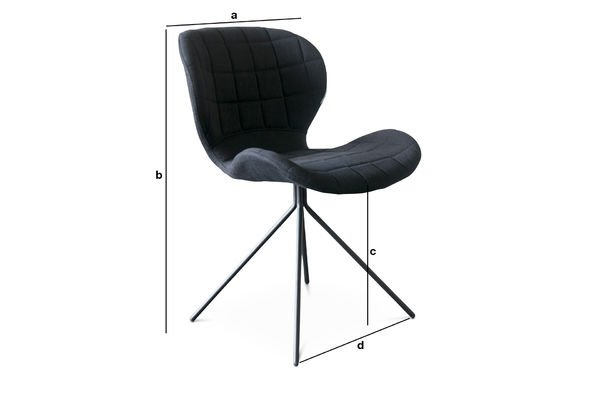 Product Dimensions Black Hetsik chair