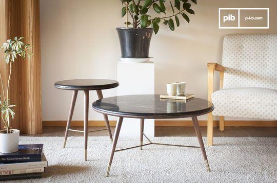 Black marble Coffee table Sivärt