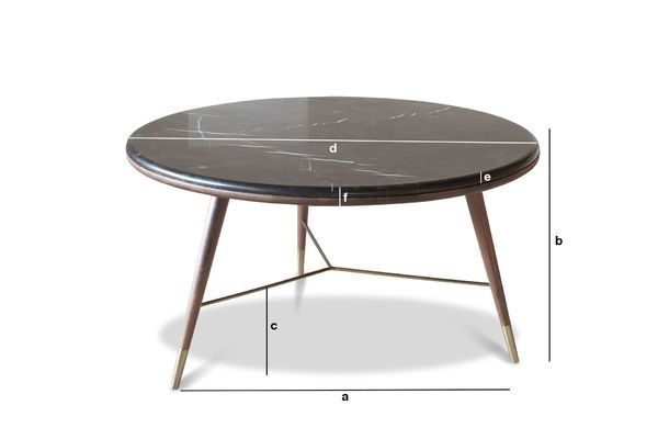 Product Dimensions Black marble Coffee table Sivärt