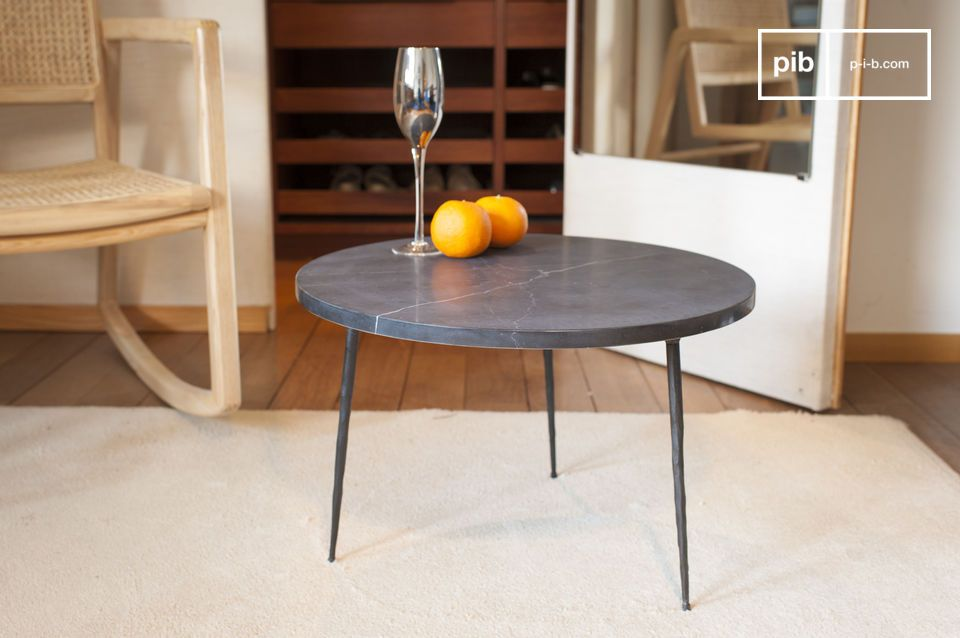 Black marble side table Vilma