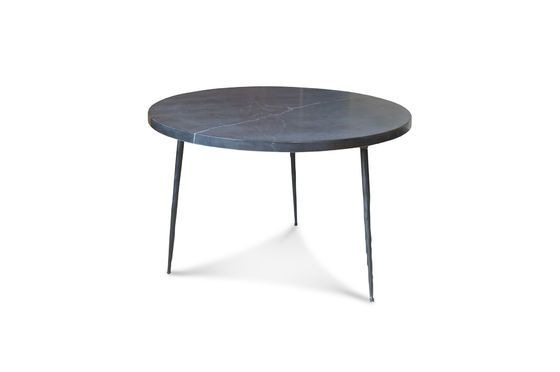 Black marble side table Vilma Clipped