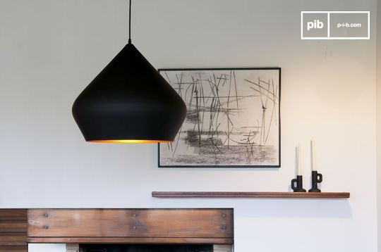 Black pendant lamp Liselotte