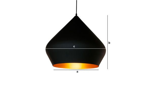 Product Dimensions Black pendant lamp Liselotte