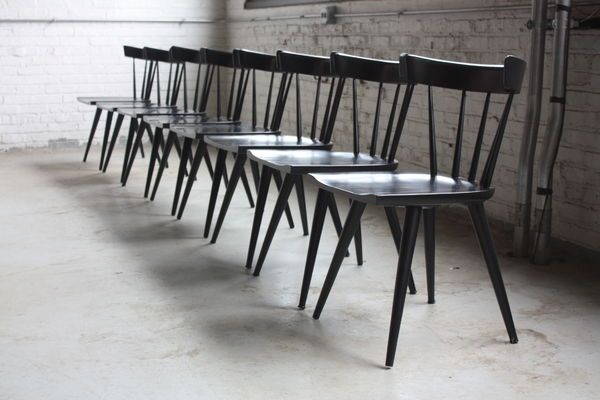 black scandinavian chairs