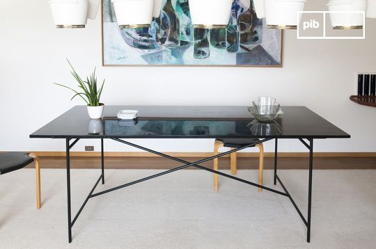 Black Thorning marble table