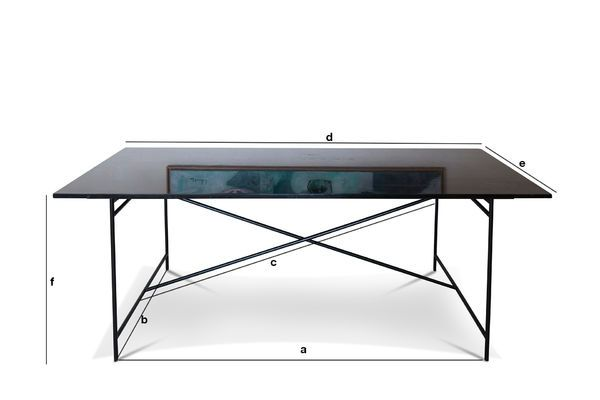 Product Dimensions Black Thorning marble table