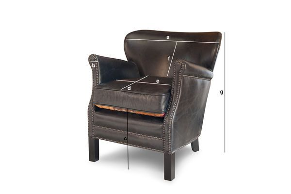 Product Dimensions Black Turner Armchair