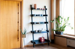 Black wooden large scale bookcase