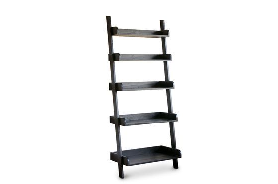 Black wooden large scale bookcase Clipped