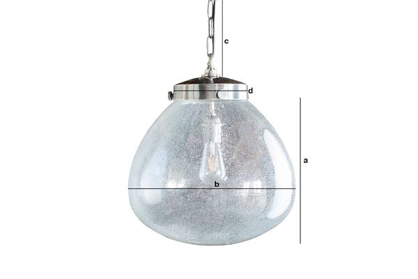 Product Dimensions Blown Glass Pendant lamp Bangor