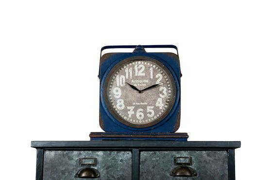 Blue Cargo clock Clipped
