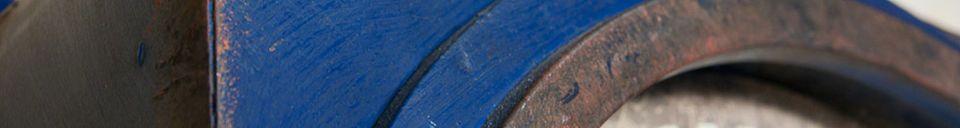 Material Details Blue Cargo clock